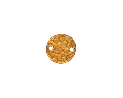 TierraCast Gold (plated) Hammertone Round Link 11mm