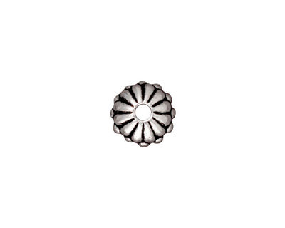 TierraCast Antique Silver (plated) Large Hole Joy Rondelle 6x10mm