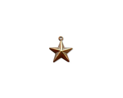 Vintaj Natural Brass Star Charm 13x15mm