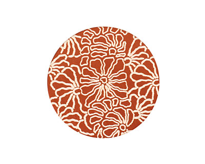 Lillypilly Bronze Weathered Daisy Anodized Aluminum Disc 25mm, 24 gauge