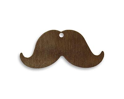 Vintaj Natural Brass Mini Mustache 31x14.5mm