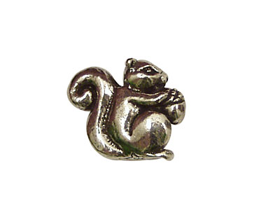 Green Girl Pewter Baby Squirrel 16x20mm