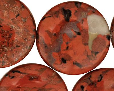 Brecciated Jasper Puff Coin 30mm