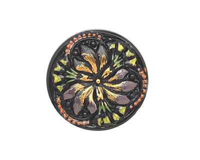 Czech Glass Vintage Bouquet Button 22mm