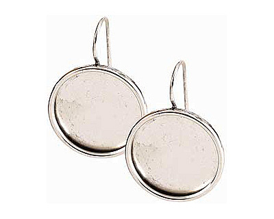 Nunn Design Antique Silver (plated) Large Circle Frame Earring 21mm
