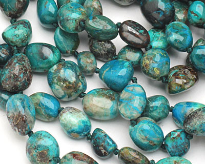 Chrysocolla Tumbled Nugget 13-18x10-14mm