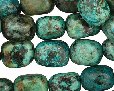 African Turquoise Tumbled Nugget 15-17x11-14mm
