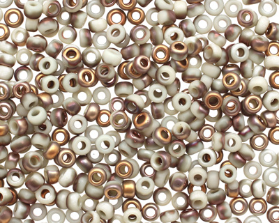 TOHO Frosted Light Beige Apollo Hybrid Round 8/0 Seed Bead