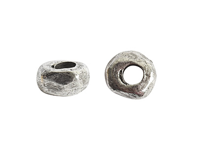 Nunn Design Antique Silver (plated) Small Organic Rondelle (large hole) 3x5mm