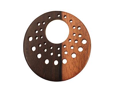 Wood Gypsy Hoop Pendant 48mm