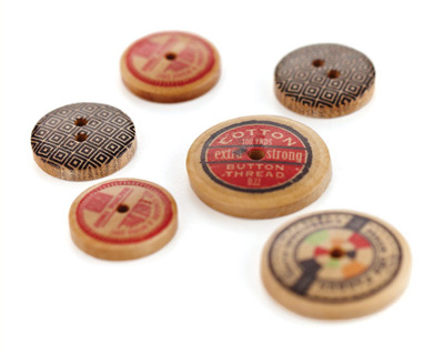 Clippings Wooden Buttons