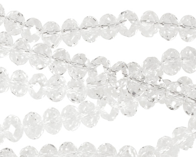 Clear Crystal Faceted Rondelle 6mm