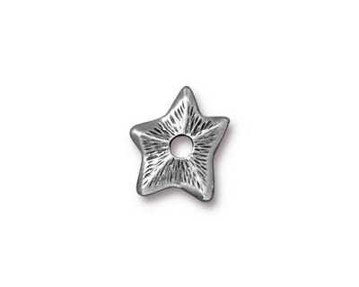 TierraCast Antique Pewter (plated) Star Rivetable 14mm