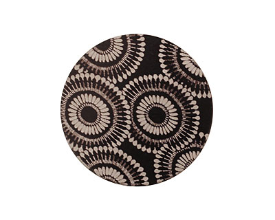 Lillypilly Black Dandelion Anodized Aluminum Disc 25mm, 22 gauge