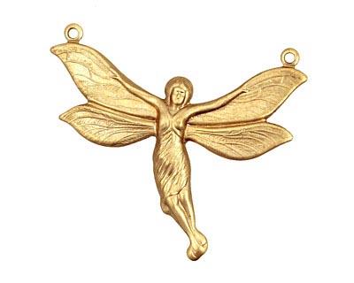 Brass Fairy Link 42x35mm