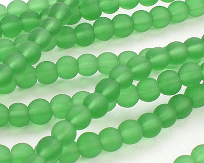 Shamrock Recycled Glass Round 4mm