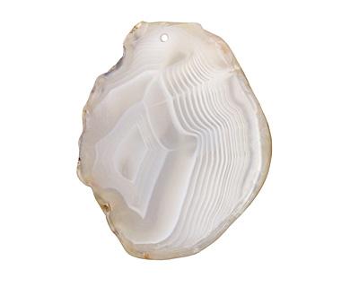 Agate Slice Freeform Pendant 34-46x51-66mm