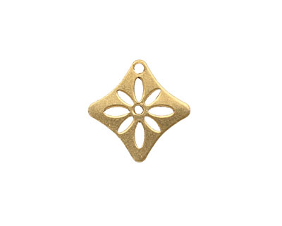 Brass Diamond Flower Stencil 16mm