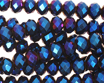 Metallic Cosmos Crystal Faceted Rondelle 8mm