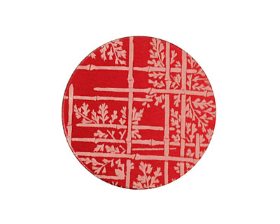 Lillypilly Red Bamboo Anodized Aluminum Disc 25mm, 24 gauge