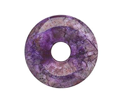 Violet (dyed) Jasper Donut 45mm