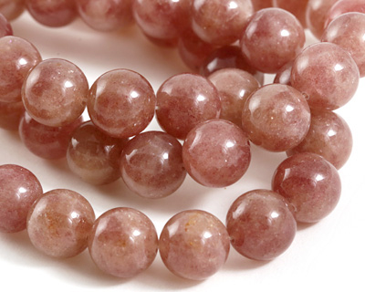 Strawberry Quartz Round 14mm