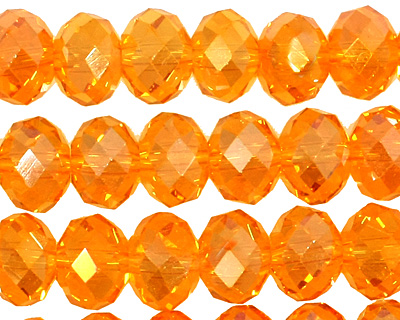 Sun AB Crystal Faceted Rondelle 8mm