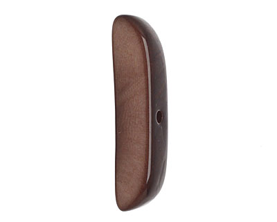 Tagua Nut Dark Brown Splinter (center-drilled) 7-8x28-35mm