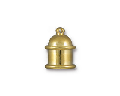 TierraCast Gold (plated) Pagoda 8mm Cord End 15.5x12mm