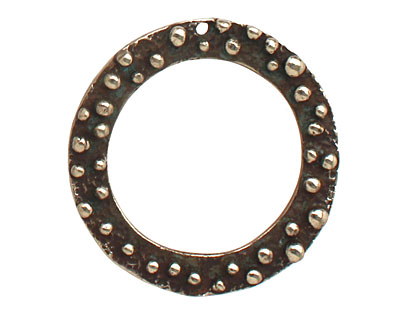 Saki White Bronze Bumpy Ring Pendant 32mm