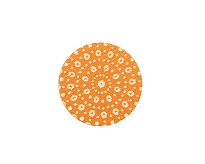 Lillypilly Orange Crochet Anodized Aluminum Disc 19mm, 24 gauge