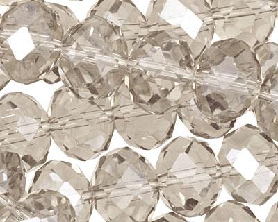 Antique Crystal Faceted Rondelle 14mm