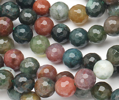 Fancy Jasper Faceted Round 8mm