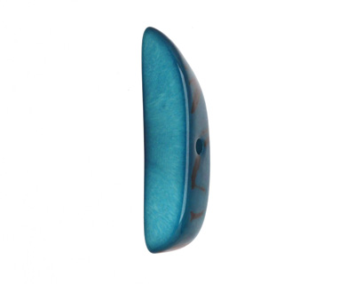 Tagua Nut Turquoise Splinter (center-drilled) 7-8x28-35mm