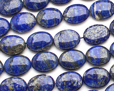Lapis Flat Oval 20x15mm