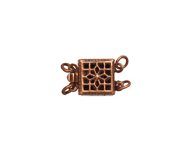 Antique Copper (plated) Box Clasp 15x8mm