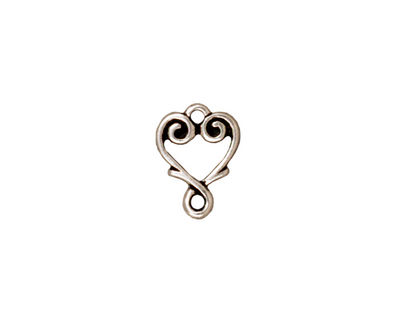 TierraCast Antique Silver (plated) Vine Heart Link 12x10mm