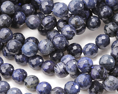 Dumortierite (dark) Faceted Round 8mm