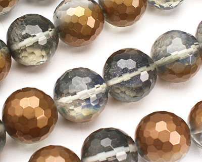 Luster Bronze Opalite Faceted Round 17-18mm