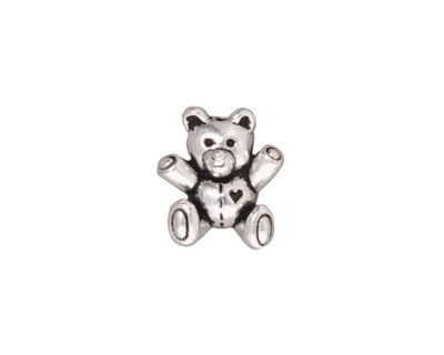 TierraCast Antique Silver (plated) Teddy Bear Bead 14x13mm