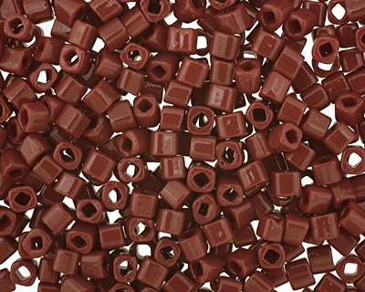 TOHO Opaque Oxblood Cube 3mm Seed Bead