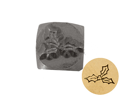 Holly Metal Stamp 6mm