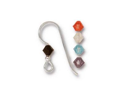 TierraCast Sterling Silver Capri Crystal Mix Earwire w/ 2mm Bead