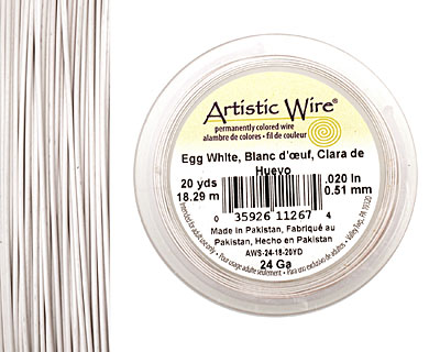 Artistic Wire Egg White 24 gauge, 20 yards