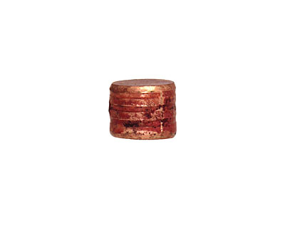 Patricia Healey Copper Quilted Barrel (side drilled) 10x12mm