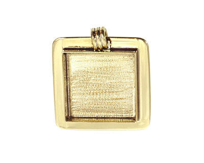 Brass Lipped Square Bezel 25mm