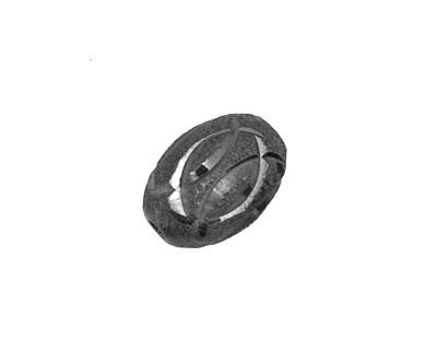Gunmetal Engraved Oval Rice 16x12mm