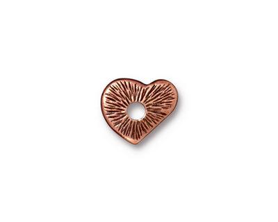 TierraCast Antique Copper (plated) Heart Rivetable 12mm