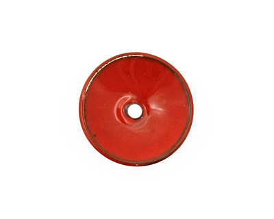 C-Koop Enameled Metal Medium Red Disc 3-4x18-20mm