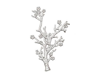 Ezel Findings Rhodium (plated) Coral Reef Link 43x27mm